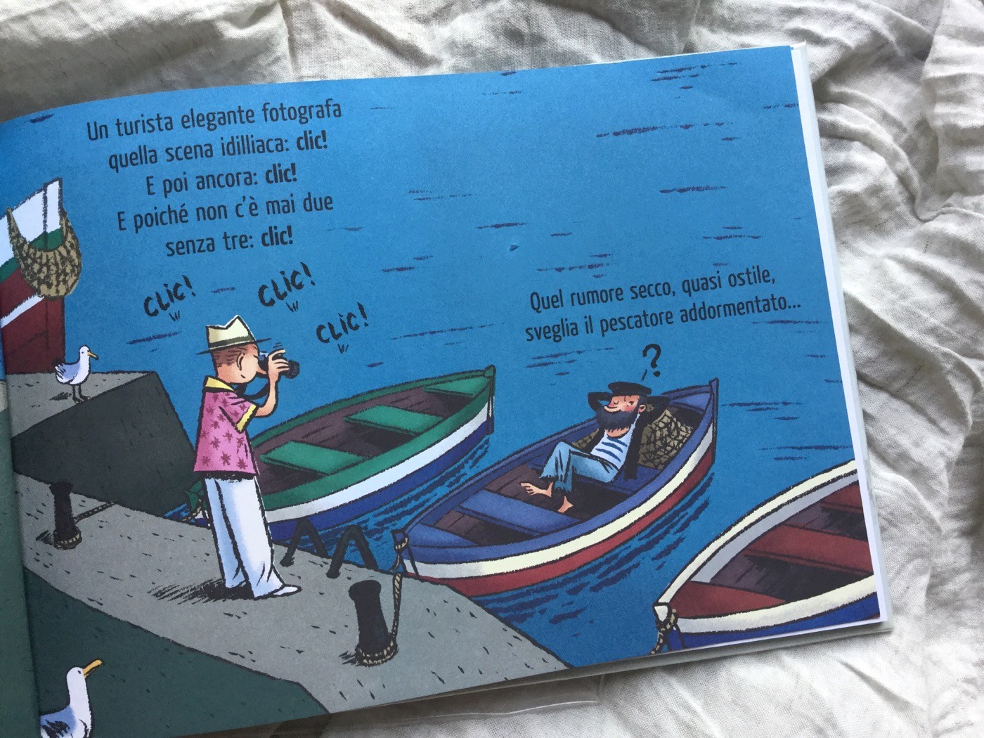 Lezione_pesca_Heinrich_Böll_Émile_Bravo_Bao_Publishing_Galline_Volanti